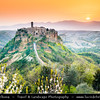Europe - Italy - Italia - Central Italy - Viterbo Province - Civita di Bagnoregio - Historical town perched on top of hill among valleys formed by Chiaro and Torbido streams, striking position atop a plateau of friable volcanic tuff overlooking the Tiber river valley