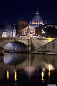 The old city and its vanity mirror - S. Peter reflected in the Tiber