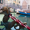 "Gondola ""masthead"" on Venice canal"