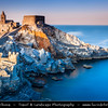 Italy - Liguria Coast - Riviera Ligure - Poets Gulf (Golfo dei Poeti) - Porto Venere - UNESCO World Heritage Site - Beautiful harbor village - Chiesa di San Pietro - Church of St. Peter