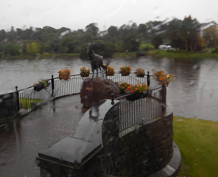 """statue of """"King Puck""""  in Killarney"""