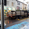 A Guinness delivery truck with kegs for the taverns