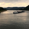 a coal barge headed down the Mosel river