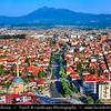 Europe - Kosovo - Prizren - Historic city located on banks of Prizren Bistrica river & on slopes of Šar Mountains - Old town panorama with Sinan Pasha Ottoman Mosque