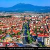 Europe - Kosovo - Prizren - Historic city located on banks of Prizren Bistrica river & on slopes of Šar Mountains - Old town panorama with Sinan Pasha Ottoman Mosque