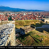 Europe - Kosovo - Prizren - Historic city located on banks of Prizren Bistrica river & on slopes of Šar Mountains - Prizren Fortress - Призренски град - Prizrenski grad - Kaljaja - Каlаја - Каљаја - Dušan's Fortress - Душанов град - Dušanov grad - Medieval fortress overlooking old town
