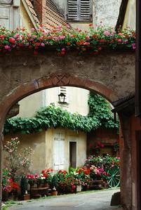 Entrance to Alsatian Courtyard