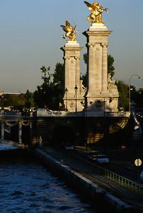 Ornate Entrance to Alexandre III Bridge