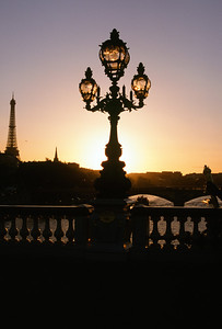 Sunset from Alexandre III Bridge