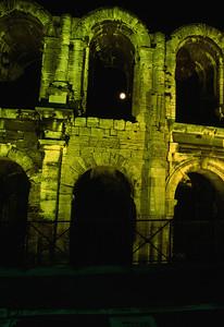 Full Moon Through the Arch