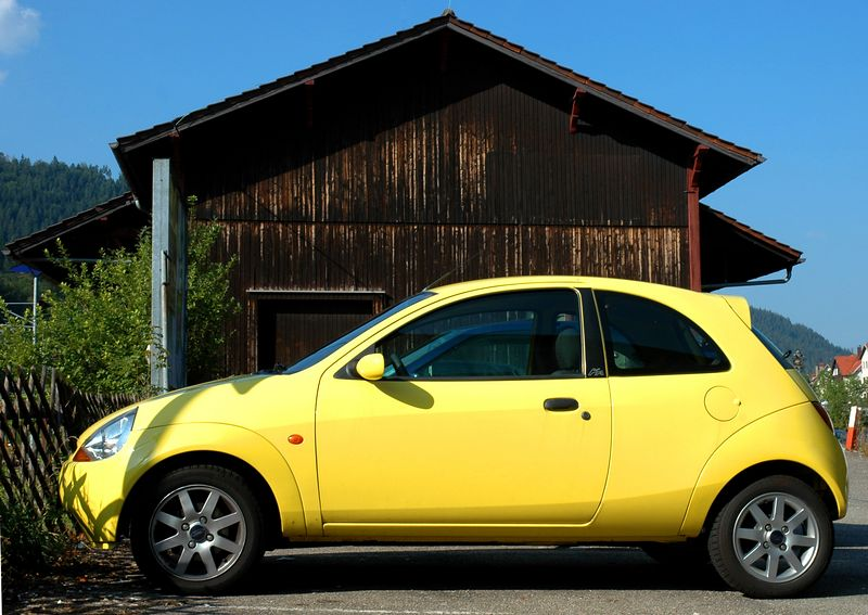 Yellow Bug  - I just love European cars. Small, use very little gas and cool looking. I would love a small car like that for myself.