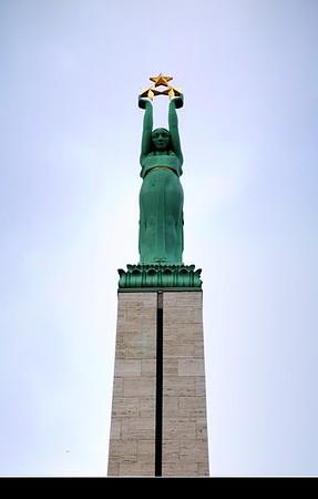 Europe - Latvia - Riga - Rīga - Capital and largest city of Latvia - Riga's historical centre - UNESCO World Heritage Site - Europe Baltic Latvia Riga Freedom Monument