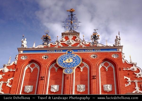Europe - Latvia - Riga - Rīga - Capital and largest city of Latvia - Riga's historical centre - UNESCO World Heritage Site - House of the Brotherhood of Blackheads