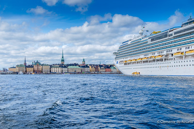 Costa Favolosa cruise ship docked in Stockholm