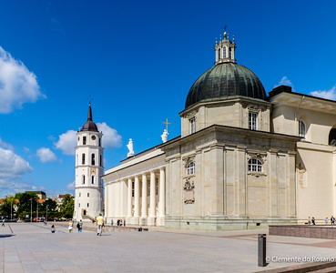 Cathedral with Bell Tower in Vilnius, Lithuania