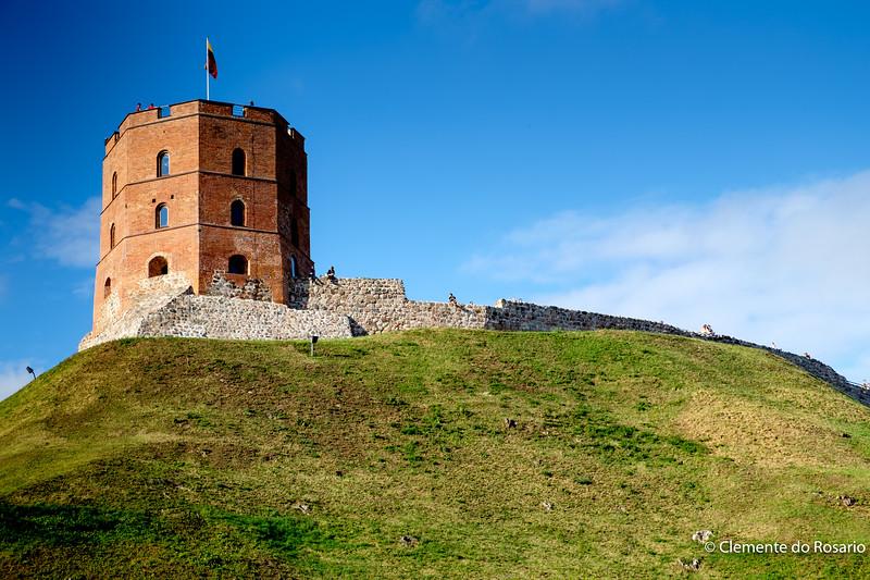 Gediminas Tower in Upper Castle in Vilnius, Lithuania