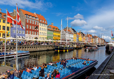 Nyhavn is a waterfront,canal and entertainment district in Copenhagen, Denmark