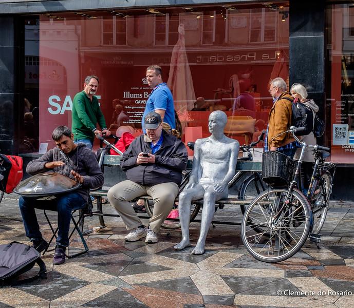 People watching on Stroget, Copenhagen, Denmark