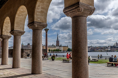 A view of Stockholm skyline from City Hall