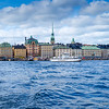 View of Stockholm skyline from a ferry