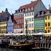 Colourful houses line the Nyhavn  canal in Copenhagen, Denmark