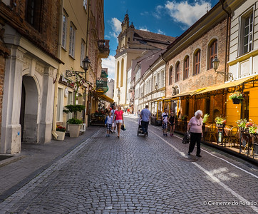 Street in Villnius, Lithuania