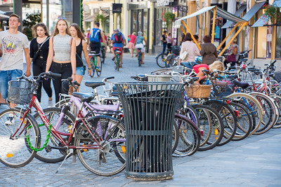 Bicycles were everywhere in Ljubljana.