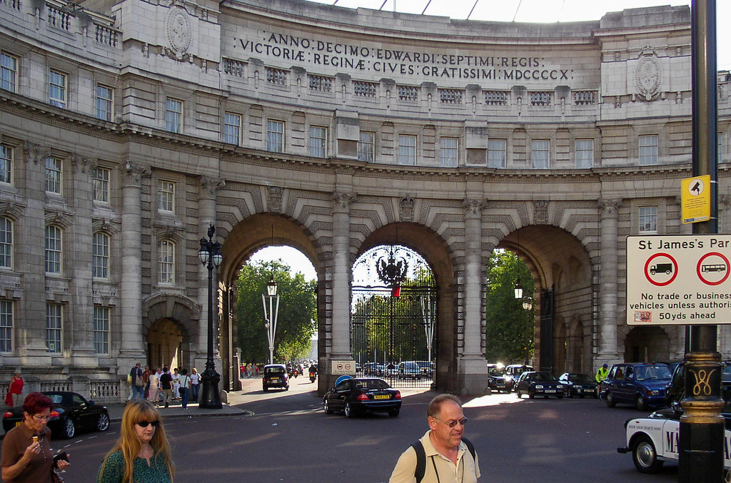 Admiralty Arch in Trafalgar Square.