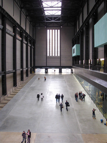Inside the Tate Modern.
