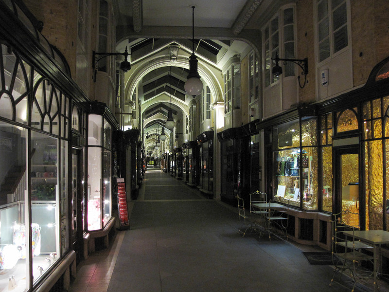 One of the shopping arcades off Piccadilly.