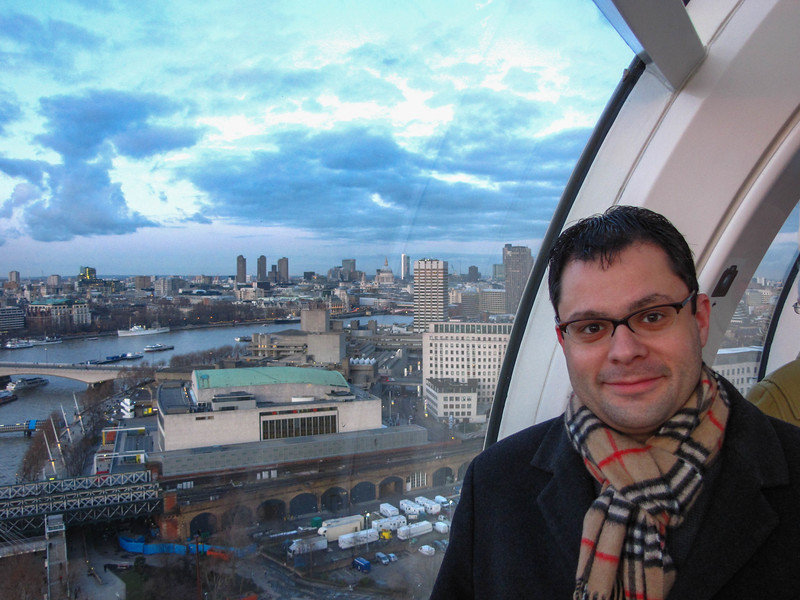 Brian on the London Eye.