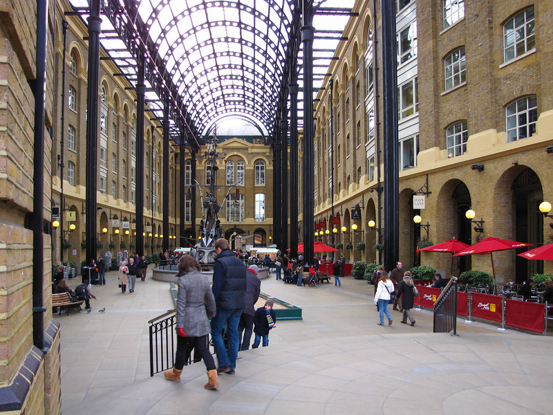 A shopping arcade, converted out of one of the old wharves.
