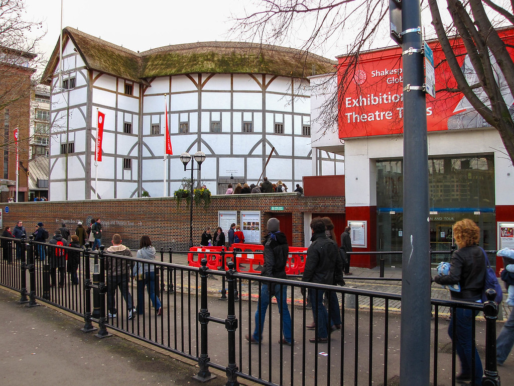 The reconstructed Globe Theatre.