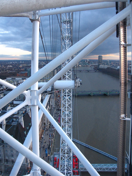 Riding the London Eye.