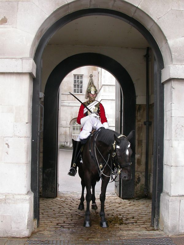 Royal Stables: Mounted guard