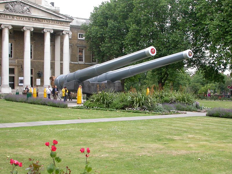 """Imperial War Museum: I think these are 12"""" guns"""