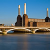 View across the River Thames to Battersea Power Station