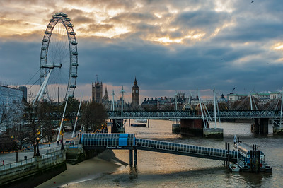 Festival Pier and the London Eye