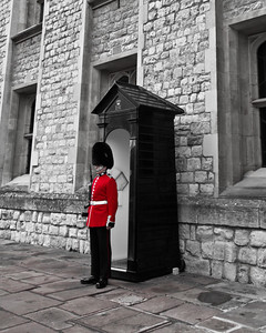 Black, White and Red - Guard at Tower of London London, England
