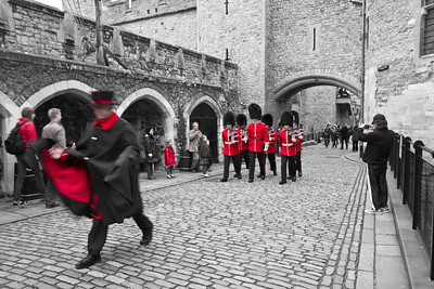 Marching Guards Tower of London London, England