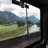 Scenery from the train ride as we neared Luzern (Lucerne), Switzerland