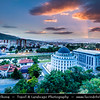 Europe - Macedonia - Skopje - Скопје - City Center along Vardar River with many new Neoclassical buildings