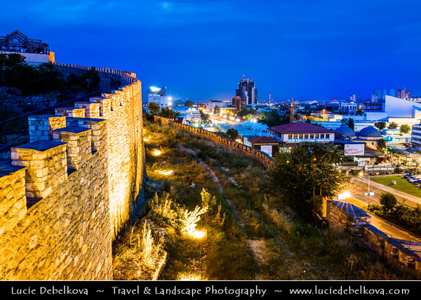 Europe - Macedonia - Skopje - Скопје - Historical City Center - Old town - Skopje Fortress - Скопско Кале - Skopsko Kale - Kale - Historic fortified fortress situated on highest point in city overlooking the Vardar River