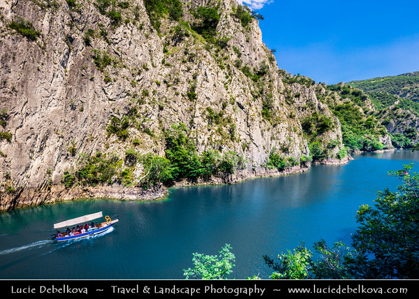 Europe - Macedonia - Matka Canyon - Кањон Матка - One of most beautiful gorges in region located west of central Skopje & One of most popular outdoor destinations in Macedonia