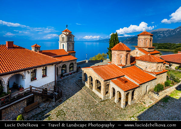 Europe - Macedonia - Monastery of Saint Naum - Манастир Свети Наум - Sveti Naum - Traditional Eastern Orthodox monastery on shores of Lake Ohrid - One of most popular tourist destinations in Macedonia