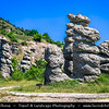 Europe - Macedonia - Kuklica - Куклица - Stone Dolls - Natural area consisting of over 120 naturally formed stone pillars, spectacular view created by volcanic erosion - Differences in erodibility of volcanic rocks of area were main factor for pillars creation