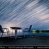 Europe - Macedonia - Ohrid Lake - Охридско Езеро - Ohridsko Ezero - UNESCO World Heritage Site - One of Europe's deepest & oldest lakes - Largest & most beautiful out of Macedonia's three tectonic lakes - Night Sky with Stars & Milky Way - Startrails - Star-trails