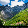 Europe - Macedonia - Mavrovo National Park - Национален парк Маврово - Janče - Janche - One of region's oldest & most picturesque villages with houses built in hillside in union with surrounding beautiful natural landscape