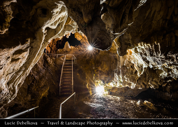 Europe - Macedonia - Matka Canyon - Кањон Матка - One of most beautiful gorges in region located west of central Skopje & One of most popular outdoor destinations in Macedonia - Vrelo Cave - Deep underwater cave located on right bank of Treska River