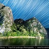 Europe - Macedonia - Matka Canyon - Кањон Матка - One of most beautiful gorges in region located west of central Skopje & One of most popular outdoor destinations in Macedonia - Night Sky with Stars - Startrails - Star-trails